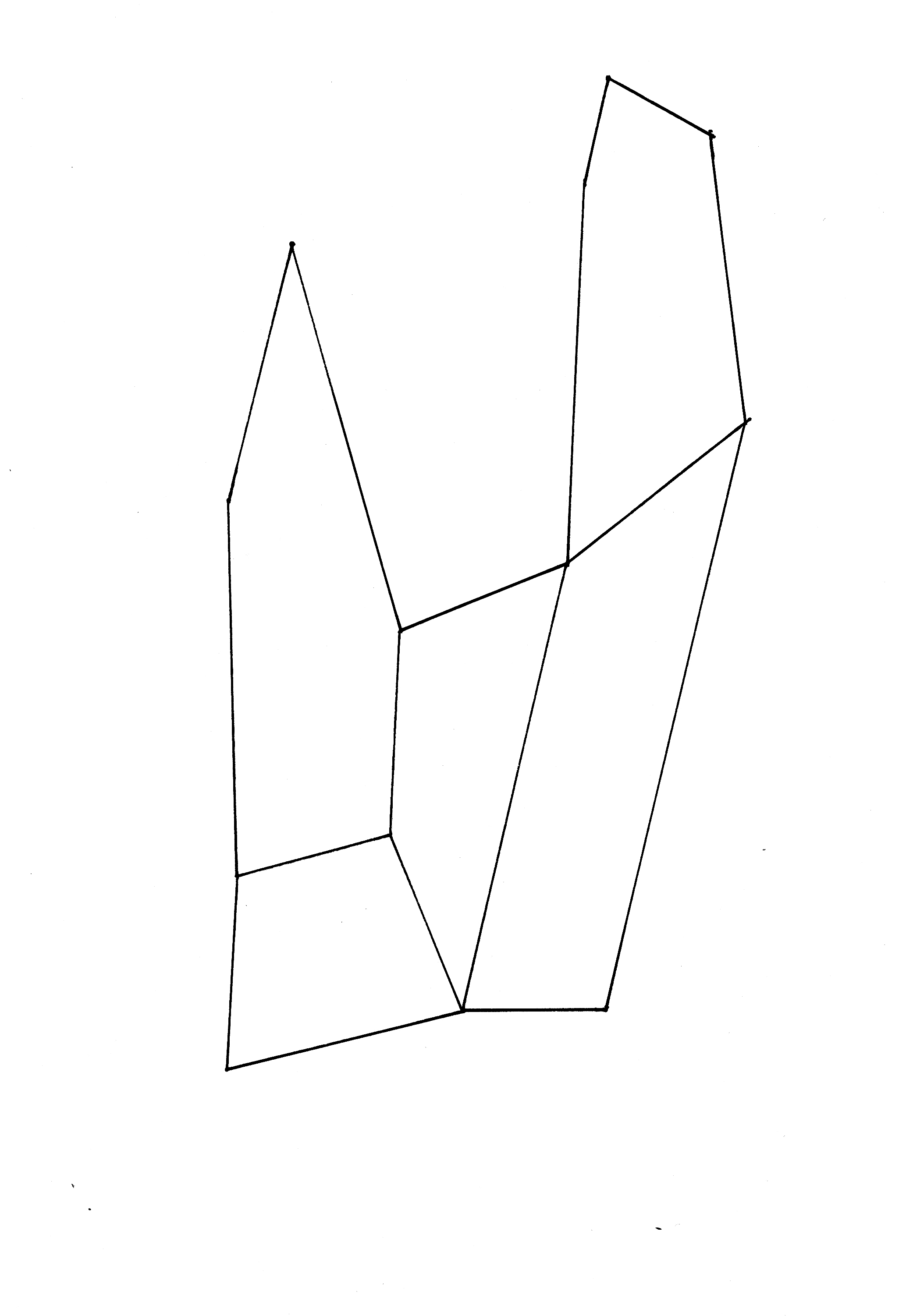 4d : sketch from the series hand drawings (2009)