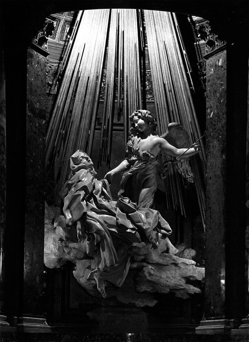Die Verzückung der heiligen Theresa (Ecstasy of Saint Teresa) in Santa Maria della Vittoria in Rom by Giovanni Lorenzo Bernini (1645-1652)