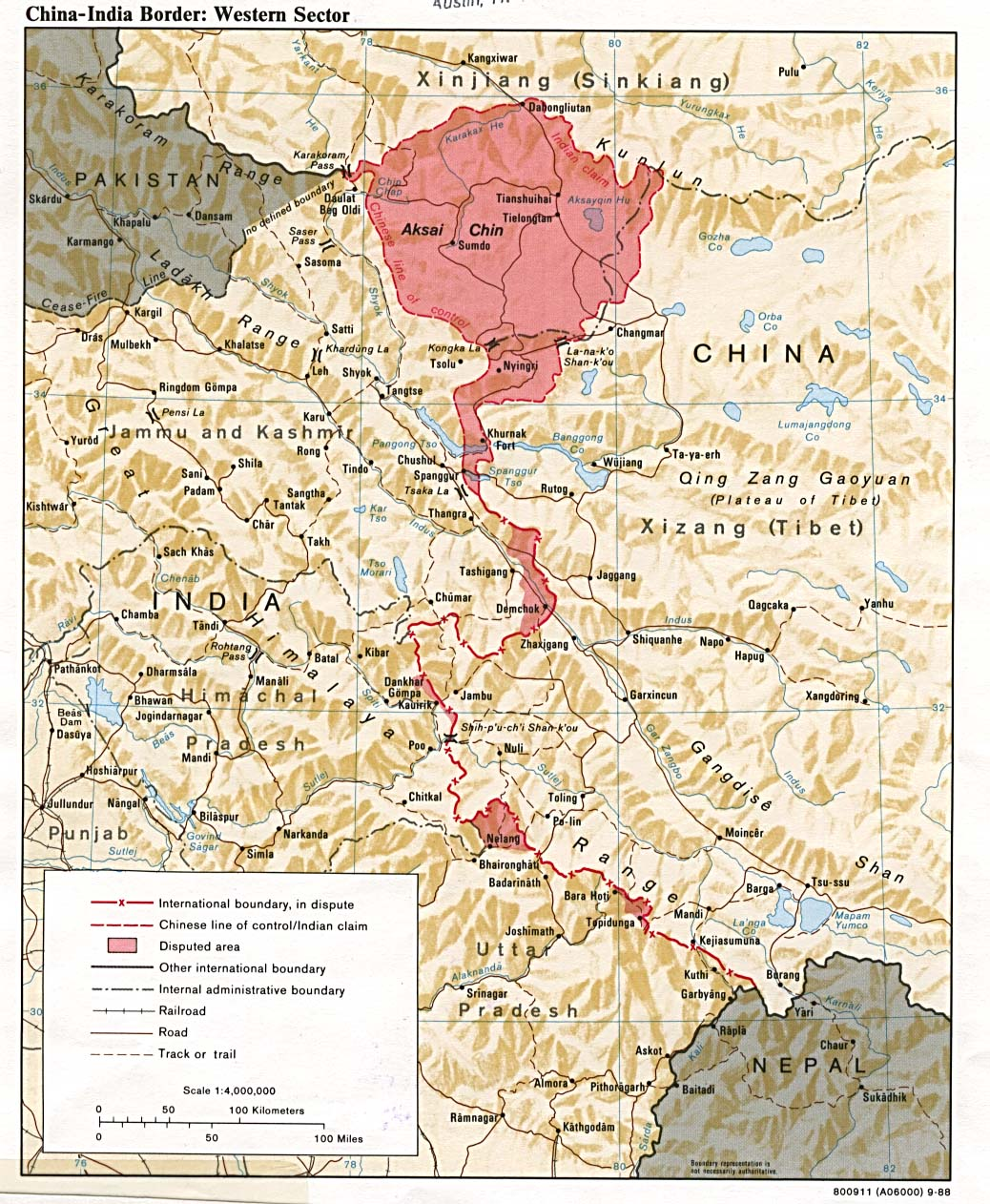 A map of Tibet - China