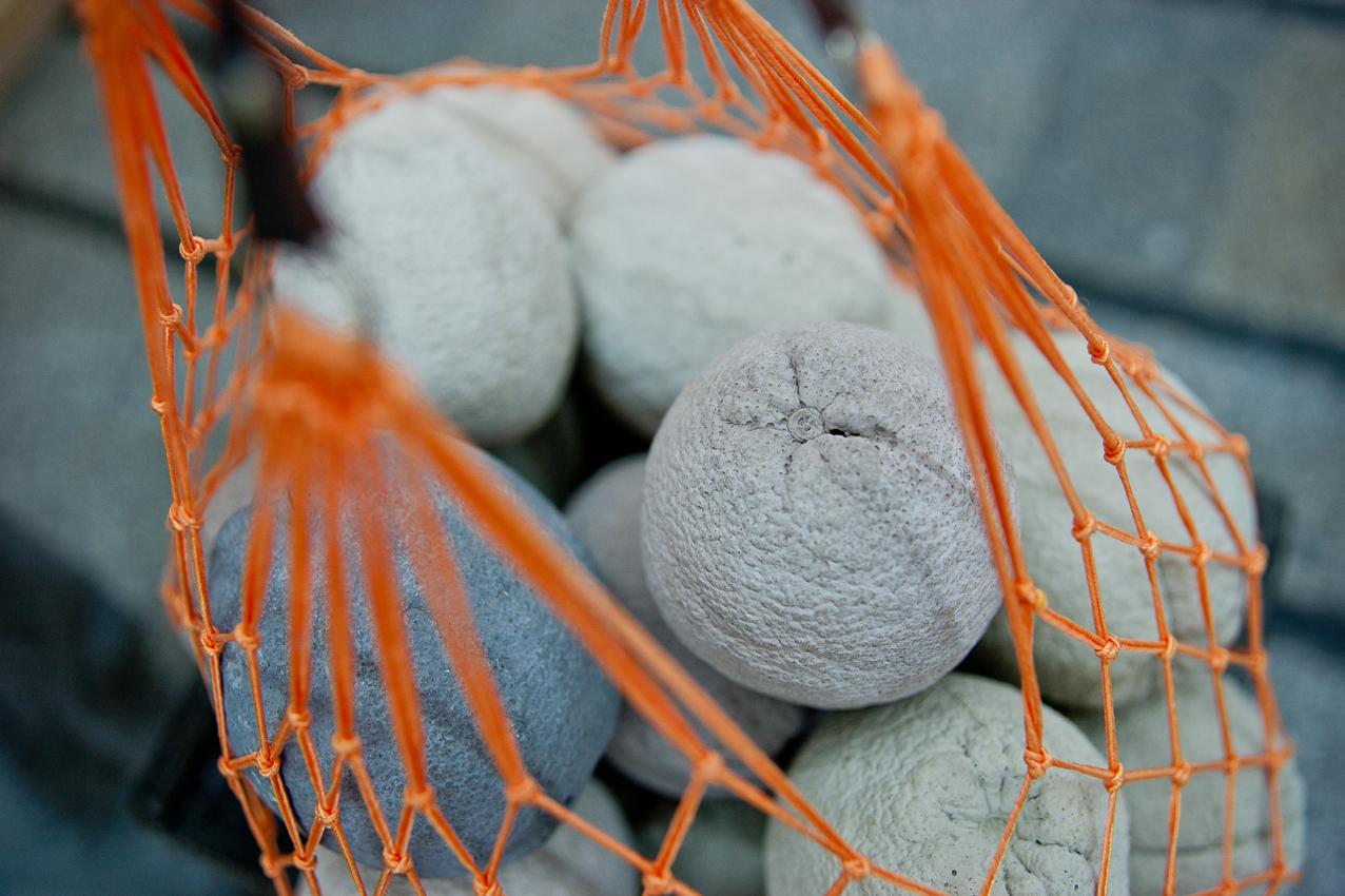 Jaffa (detail): Oranges- concrete castings