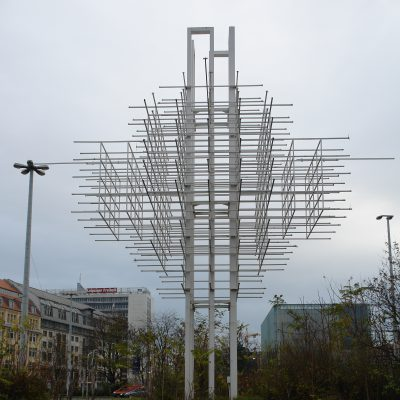 Steel frame by Harry Müller in the city of Leipzig (until 2010) Photo: 2009